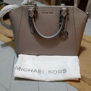 Michael Kors  pearl grey satchel